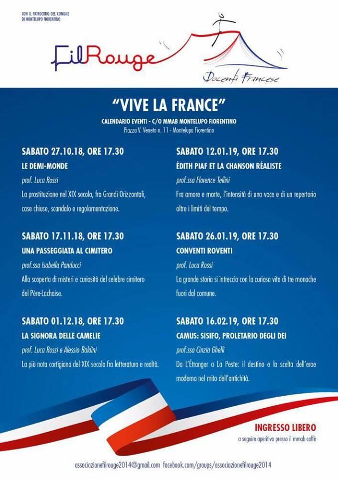 Locandina 2018 2019 Vive La France