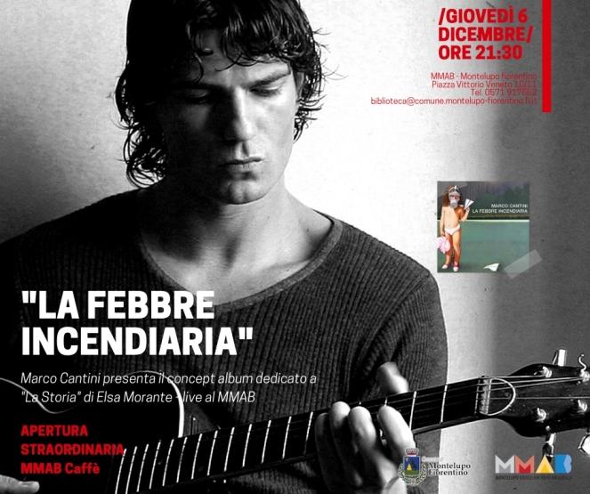 Locandina Presentazione La Febbre Incendiaria di Marco Cantini al MMAB