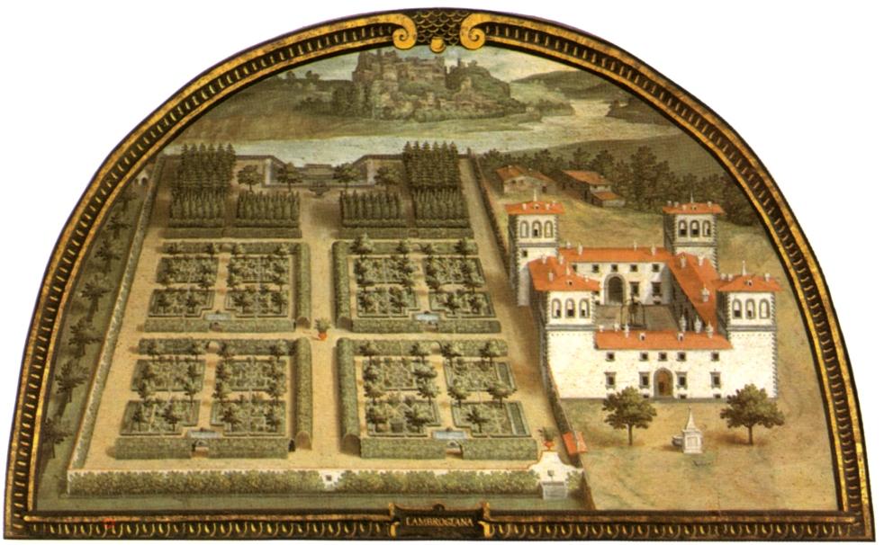 Lunetta Giusto Utens Villa Ambrogiana Montelupo