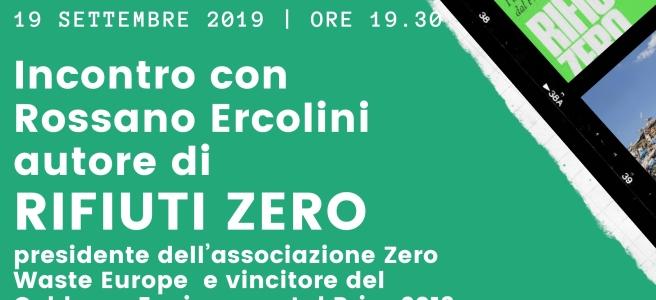"""Locandina presentazione libro """"Rifiuti zero"""" Rossano Ercolini"""